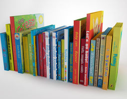children book collection   3d