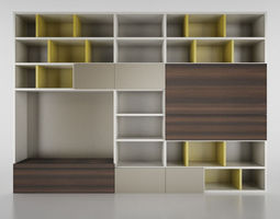 furnishing Molteni 3D