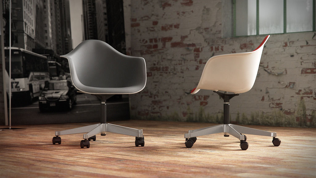 Eames Plastic Armchair : D vitra eames plastic armchair pacc cgtrader