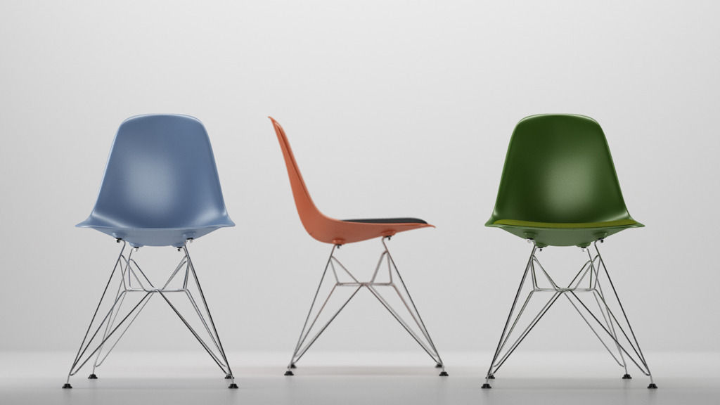 Eames Plastic Side Chair Dsr vitra eames plastic side chair dsr 3d cgtrader