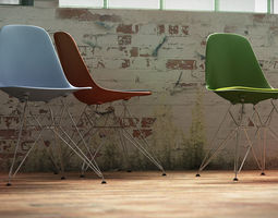 Eames Plastic Side Chair Dsr 3d vitra eames plastic side chair dsw cgtrader