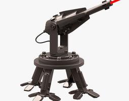 3D model Robot 004 Mobile Laser Cannon