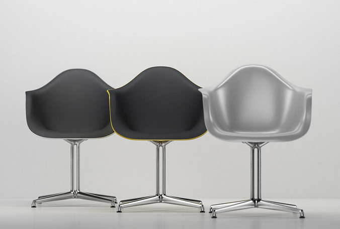 vitra eames plastic armchair dal 3d cgtrader