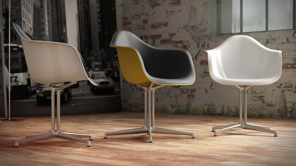 vitra eames plastic armchair dal 3d model c4d. Black Bedroom Furniture Sets. Home Design Ideas