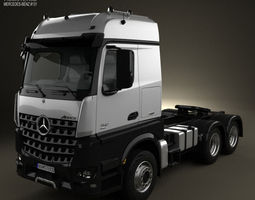 3d mercedes-benz arocs tractor truck 2013