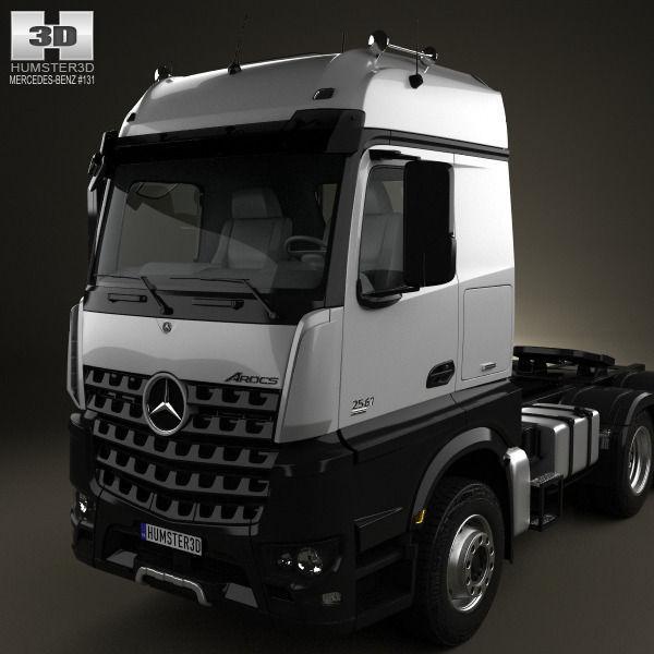 ... Mercedes Benz Arocs Tractor Truck 2013 3d Model Max Obj Mtl 3ds Fbx C4d  Lwo ...
