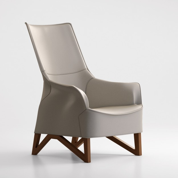 Giorgetti Mobius Armchair 3d Model Max Obj Cgtrader Com