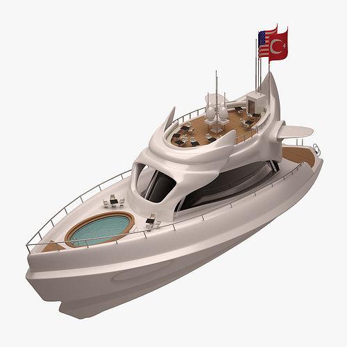 yacht 001 3d model max obj mtl fbx 1