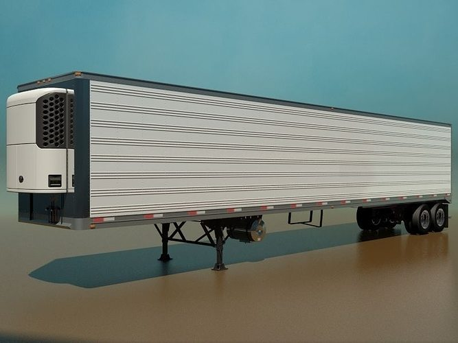 53 Foot Refrigerated Semi Trailer 3D model MAX OBJ 3DS FBX ...