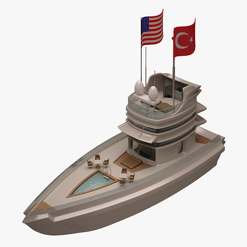 yacht 002 3d model max obj mtl fbx 1