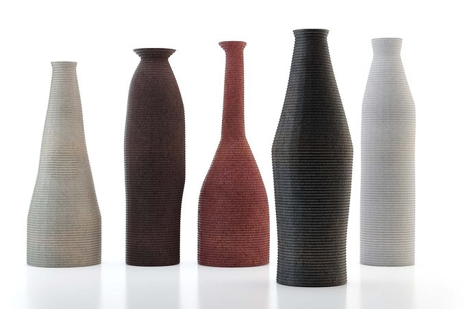 African Style Vases 3d Model Cgtrader