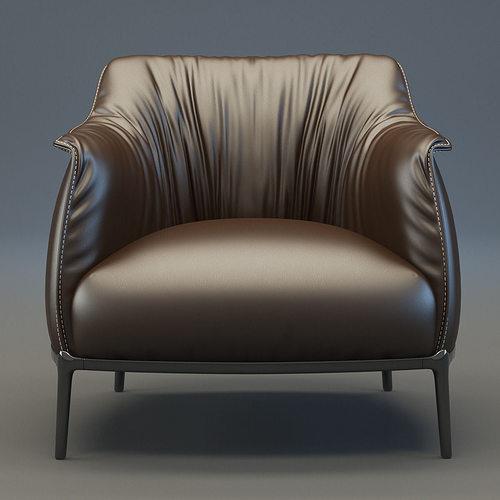 archibald armchair 3d model max obj fbx mtl 1
