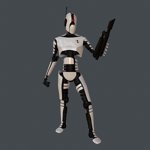 robot  assasin 3d model rigged obj mtl fbx ma mb 1
