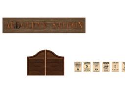 3D model Saloon Doors