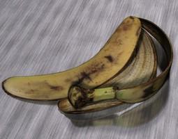 animated banana peel game-ready 3d model