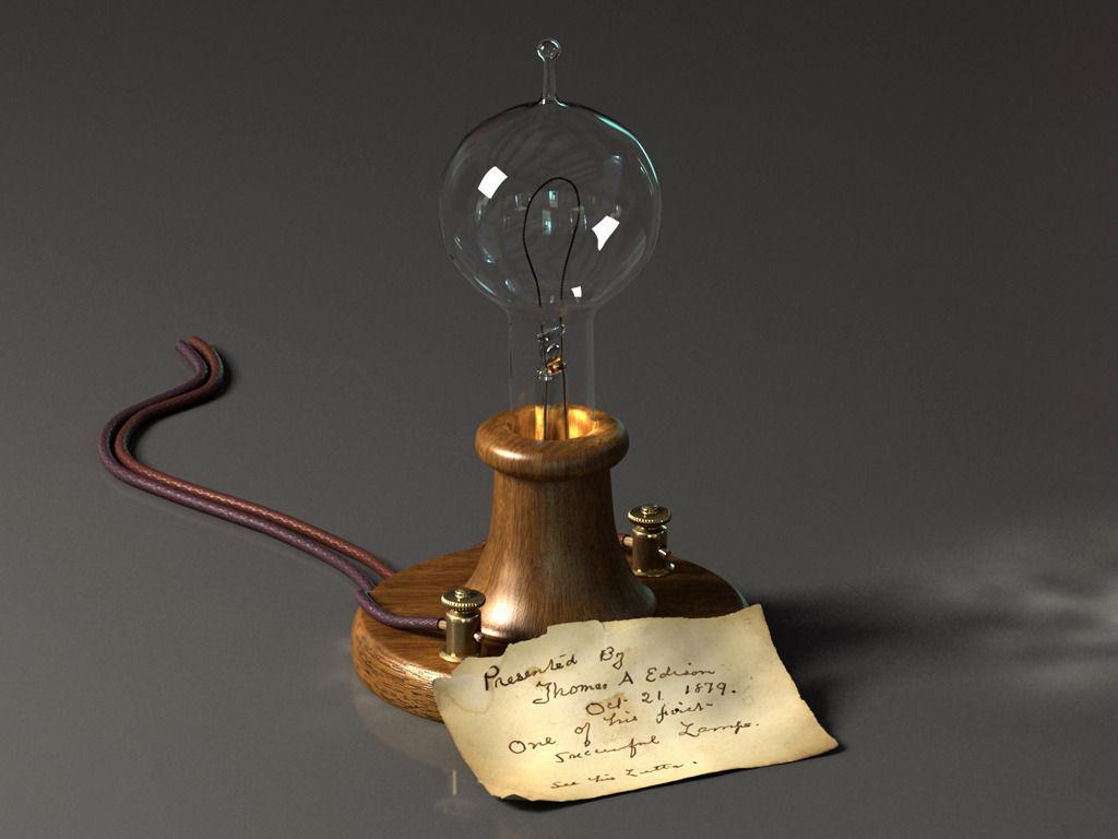 Edison Lamp 3D | CGTrader