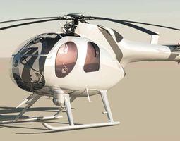 md-500 model 369d notar helicopter 3d model max obj 3ds fbx c4d skp