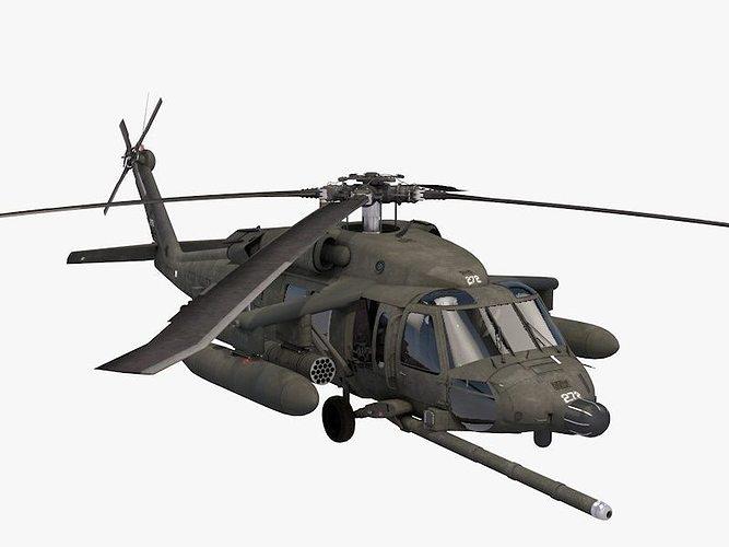 uh-60 blackhawk kfor 3d model obj mtl 3ds fbx c4d dae 1