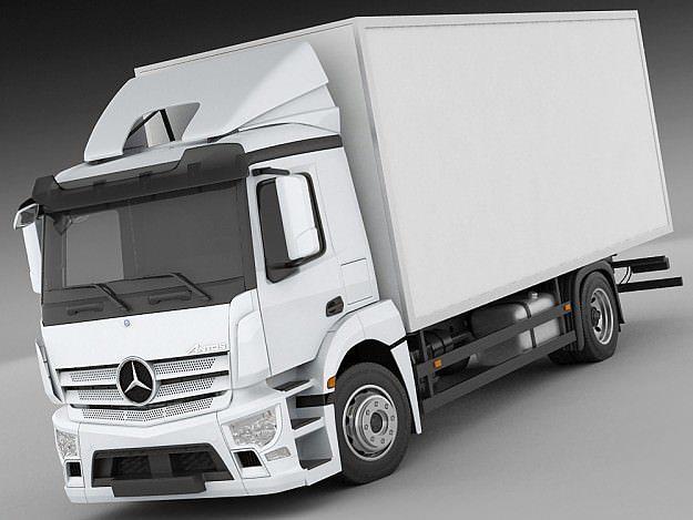 mercedes antos rigid truck 3d model max obj 3ds fbx c4d lwo lw lws 1