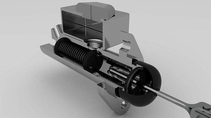 brake pump 3d model stp 1