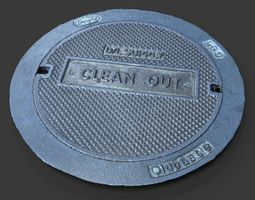 3d clean out utility cover