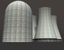 Nuclear Chimney Low Poly 3d Model6 game-ready