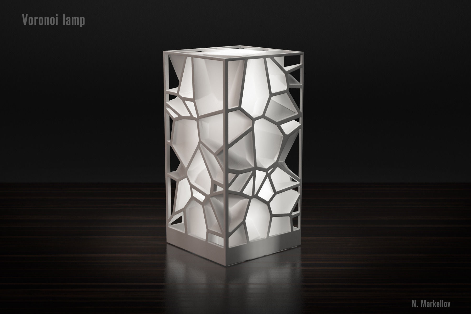 Generative design Voronoi lamp high quality version