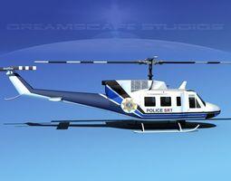 Bell 212 V12 Police SRT 3D Model
