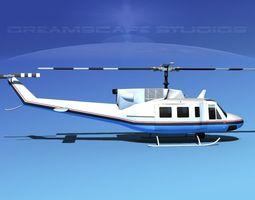 bell 212 v25 unmarked 3d model rigged max obj 3ds lwo lw lws dxf stl