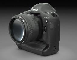Canon Eos 1D-x DSLR Camera 3D Model
