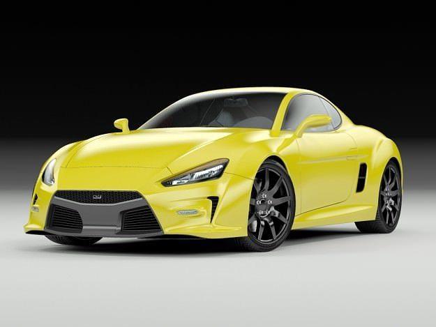 concept coupe 3d model max obj mtl 3ds fbx lwo lw lws 1