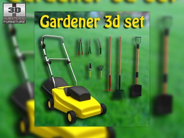set gardener 3d model max obj 3ds lwo lw lws mtl 1