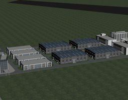 modular apartment Office Building 3D model