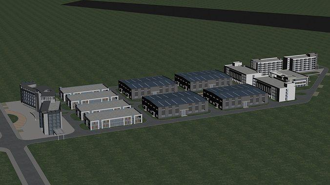 office building 3d model max tga 1