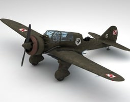 3d model pzl 23 karas light bomber