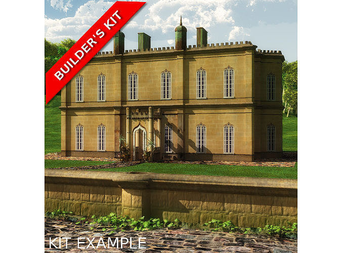 English Manor Country House 3d Model Cgtrader