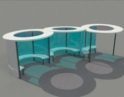 realtime bus shelter 3d model