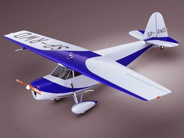 propeller airplane rwd5 3d model max obj mtl 3ds fbx lwo lw lws 1