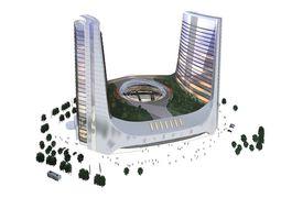 metro Office Building 3D model