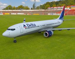 Boeing 737-800 3D asset