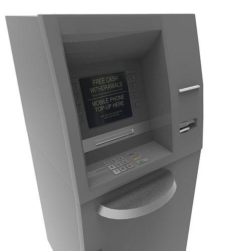 cash machine 3d model fbx ma mb 1