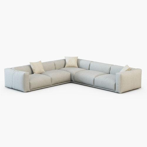Sofa bolton poliform 3d model cgtrader for Divan furniture models