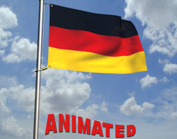 3D model Animated Germany Flag