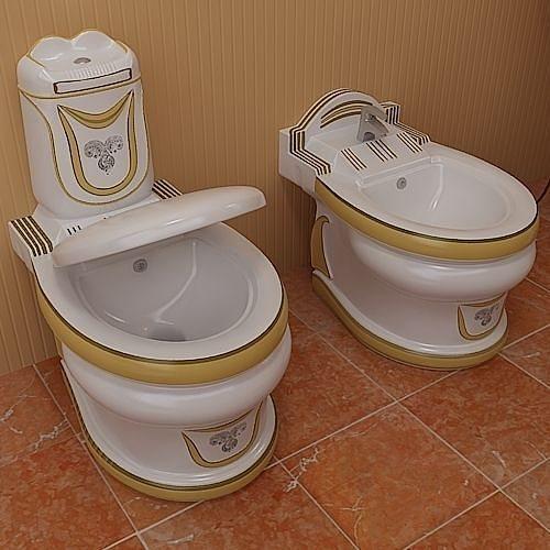 Stylish Toilet Set 3d Model Max Obj 3ds Fbx Lwo Lw Lws Mtl 2