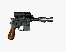 3d model gun 3