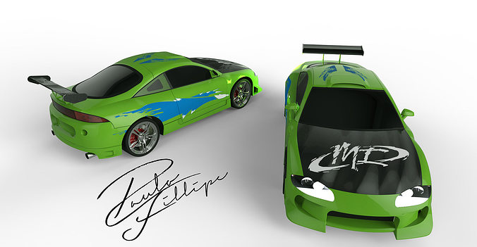 eclipse fast and furious 3d model ige igs iges stp 1