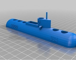 Submarine Pen Holder 3D printable model
