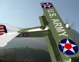 3D model Fokker DVII Toy Plane 3