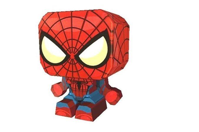 Spider Man Cut Out 3d Model Low Poly Obj Mtl Ma Mb 1