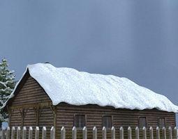 snow house scene 3d
